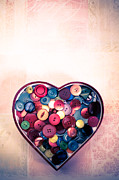 Button Love Print by Jan Bickerton
