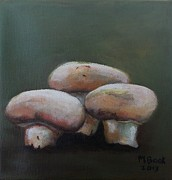 Button Mushrooms Posters - Button Mushrooms Poster by Marlene Book