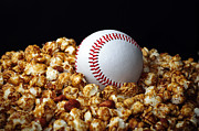 Baseball Art Framed Prints - Buy Me Some Cracker Jack 1 Framed Print by Andee Photography