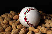 Athletic Digital Art Acrylic Prints - Buy Me Some Peanuts - Baseball - Nuts - Snack - Sport Acrylic Print by Andee Photography