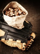 Baseball Glove Photos - Buy Me Some Peanuts and Cracker Jack by Edward Fielding