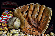 Baseball Glove Photos - Buy Me Some Peanuts and Cracker Jacks by Ken Smith