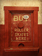 Old Skates Framed Prints - Buy Skates Here Framed Print by Brenda Conrad