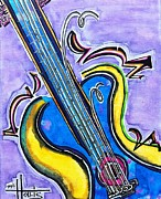 Guitare Posters - Buy this Original and Prints Poster by Gayla Hollis