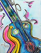 Guitar Painting Originals - Buy this Original by Gayla Hollis