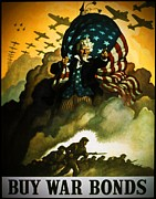 Greatest Generation Digital Art Prints - Buy War Bonds Print by Robert Geary