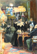 Miniatures Art - Buying Christmas Presents 1895 by Padre Art