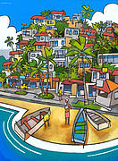 Tropical Painting Originals - Buzios by Douglas Simonson