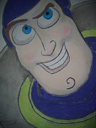 Toy Pastels Posters - Buzz Lightyear Poster by Paul Trewartha