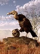 Daniel Eskridge - Buzzard with a Skull