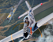 Mustang Aviation Art Paintings - Buzzin Cuzzin by Jason Breidenbach