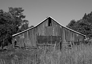Neurotic Images Photography Prints - BW Eastern Oregon Barn Print by Chalet Roome-Rigdon
