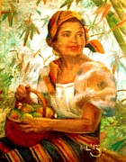 Filipina Prints - by Amorsolo Print by Maria  Leah