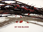 Redeemer Mixed Media - By His Blood by Steven Overton