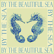 Sea Horse Posters - by the beautiful sea II Poster by Jane Schnetlage