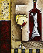 Lifestyle Painting Originals - BY THE FIRESIDE Original MADART Painting by Megan Duncanson