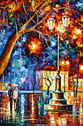 Umbrella Paintings - By The Large Light by Leonid Afremov