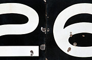 Old Signage Prints - By The Numbers Print by Dan Holm