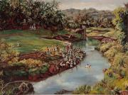 Jamaican Art Paintings - By The River by Ewan  McAnuff