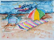 New Jersey Painting Originals - By the Sea by Elaine Duras