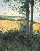Caillebotte Prints - By the Sea Normandy  Print by Gustave Caillebotte