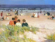 By The Shore Print by Edward Potthast