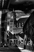 Main Street Metal Prints - By The Station Metal Print by Tim Wilson