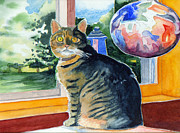 British Shorthair Art - By the Window by Katherine Miller