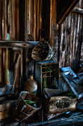 Rustic Barn Interior Art - Bygone Era - Barn interior details by Thomas Schoeller