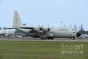 Featured Metal Prints - C-130j Super Hercules Of The Royal Thai Metal Print by Remo Guidi