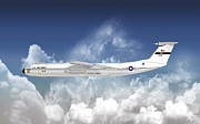 Air Wing Graphics Prints - C-141B Starlifter Print by Arthur Eggers
