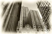 Chicago Board Of Trade Prints - C B O T Print by David Bearden