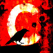 Letter Posters - C is for Crow Poster by Carol Leigh