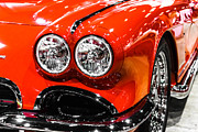 Motors Metal Prints - C1 Red Chevrolet Corvette Picture Metal Print by Paul Velgos