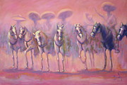 Mexican Horse Paintings - Caballeriza en Tierra de Paz by David Silvah