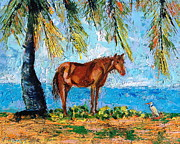 Caribbean Sea Paintings - Caballo Sun Bay by Valerie Twomey