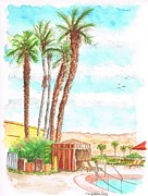 Cabanas Prints - Cabana-by-the-pool-Golden-Nugget-Hotel-Laughlin-NV Print by Carlos G Groppa