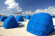 Relax Photos - Cabanas on the Beach by Amy Cicconi