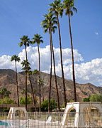 Liquid Framed Prints - CABANAS Palm Springs Framed Print by William Dey