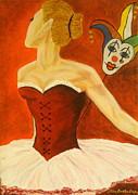 Cabaret Ballerina Print by Elena  Constantinescu