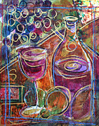 Wine Bottle Paintings - Cabernet Sauvignon by Filomena Booth