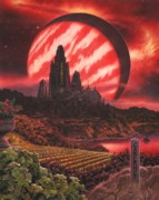 Planet Paintings - Cabernet Wine Country Fantasy by Stu Shepherd