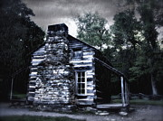 Gatlinburg Tennessee Prints - Cabin Blues Print by Gary Conner