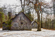 Antiques Prints - Cabin Dream Print by Debra and Dave Vanderlaan
