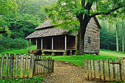 Tennessee Landmark Prints - Cabin in the Mountains Print by David Davis