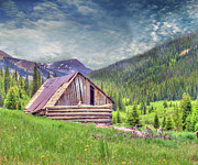 Abandoned Prints - Cabin in the Mountains Print by Juli Scalzi