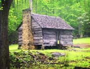 Marty Koch Photo Posters - Cabin in the Smokies Poster by Marty Koch