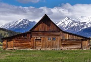 Log Cabins Prints - Cabin In Wyoming Print by Dan Sproul