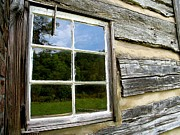 Cabin Window Framed Prints - Cabin Framed Print by Michael Eingle