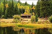 Big Horn  Photography - Cabin on the Pond